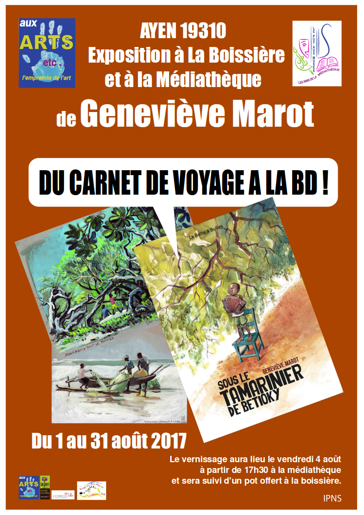 Affiche exposition Geneviève Marot